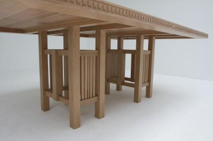 Art Deco tafel kersen onderstel