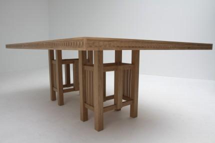 Art Deco tafel kersen onderstel & rand