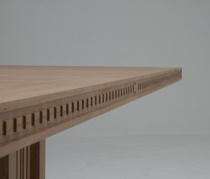 Art Deco tafel kersen rand