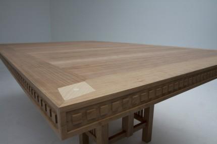 Art Deco tafel kersen rand & inleg